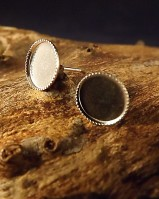 Light Weight Round ear Studs (for 4mm,5mm,6mm,8mm Cabs)