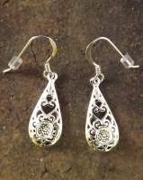 Pretty Drop Earring For 4mm Cabochon