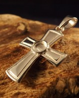 Silver Cross To Fit Cabochon 5mm