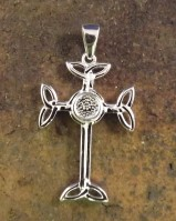 Attractive Silver Celtic Cross Unset 5mm Stone