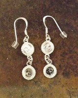 Silver Drop  Earrings For 2- 5mm Stones
