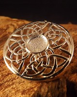 Silver Round Celtic Brooch Setting For 8mm Stone