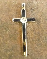 Long Plain Silver  Cross finding for 4mm