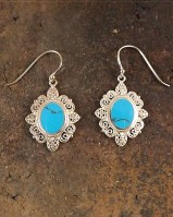 Filagree Turquise Or Mother Of Pearl Ear Drops