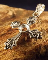 Silver Cross Leaf Style mount 5mm