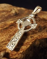 Silver Cross Mount For 5mm Cabochon