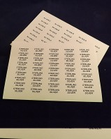 Printed Labels Silver , Gold or Various Gemstones