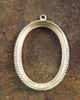 Silver Rope Pendant 30x22