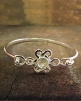Heavy Silver Celtic Bangle For Resin Or 6mm Cabochon