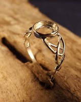 Unset Silver 8x6 Celtic Ring Setting