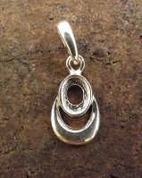 Small Silver Pendant setting to mount 7x5