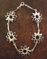 Silver Daisy Bracelet Unset For 7MM Stones