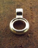 Solid Silver Unset Plain  Pendant for 12x10