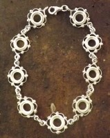 Silver Frill And Bead Bracelet Setting For 6mm