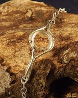 Silver Chain Bracelet Setting For 10mm Cabochon