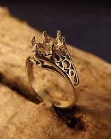 Silver Ring Finding For Setting 8X6 Faceted Stone