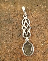 10x8 Celtic Drop Pendant