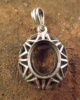 Silver Pendant Setting For 12x10