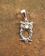 Silver  Owl Pendant For 8MM Stone