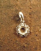 Silver Pendant Mount for 6MM Cabochon