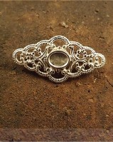 Silver Filagree Brooch For  8x6 Stone