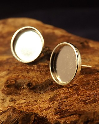 Heavy Cup Stud Earring For 10 mm