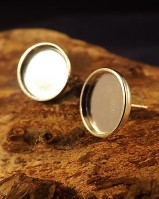 Heavy Cup Bezel Earring For 10 mm