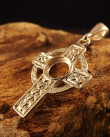Silver Celtic Setting For 8MM Cabochon