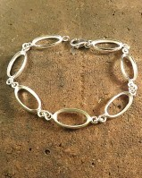 Silver Bracelet Finding for 8X16 Stone