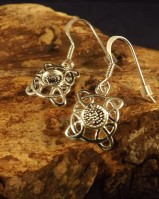 Celtic Drops Earring Castings To Fit 5mm Stone