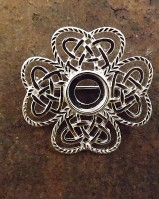 Celtic Style Brooch Mount For 8mm Cabochon