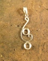 Modern style silver pendant to fit 6mm cab