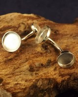 Two Stone Cufflink Setting For Cabochons or resin