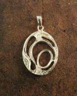 New stylish silver pendant mount to fit 14x10 stone