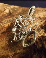 Butterfly Pendant For Stone 10x5