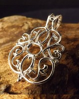 Fancy Silver Pendant To Fit a 8x6 Facetted stone