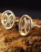 Solid Silver Cufflink Mounts For 16x12 Stones