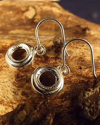 Round Silver Ear Drop Mount For 6mm Cabochon