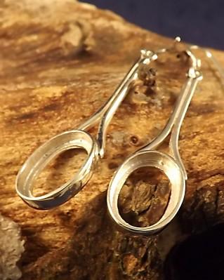 Drop Earring Mounts For 14x10 Stone