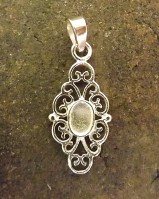 Silver Pendant Finding  For 6x4 Cabochon