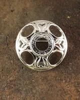 Fancy Silver Celtic Brooch Blank For 13mm Stone