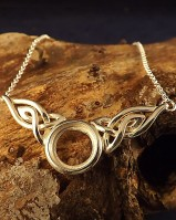 Silver Celtic Necklace Mount For 12mm Stone