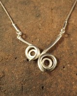 Two Stone Stylish Pendant With Chain For 6mm