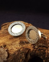 Solid Back Silver Cufflink Mount For 16x12