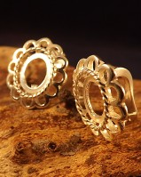 Silver Studs With Safety Wire Setting For 10x8