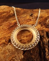 Round Pendant Setting With Chain For 17mm stone