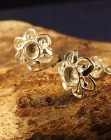 Silver Studs for 4mm Cabochon