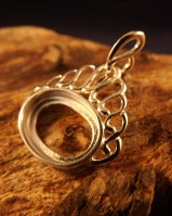 Silver Fob Style Pendant Setting for 14x10 Stone