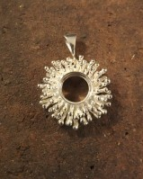 Stunning New Silver Pendant To Fit 10mm Cabochon