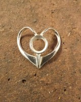 Simple Heart Pendant For 10mm Cabochon